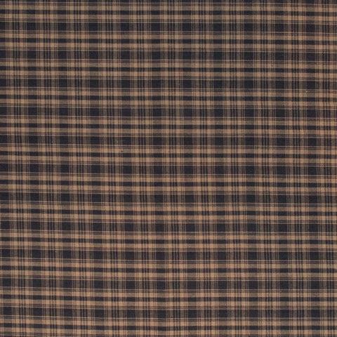 Black and Tan Plaid Fabric