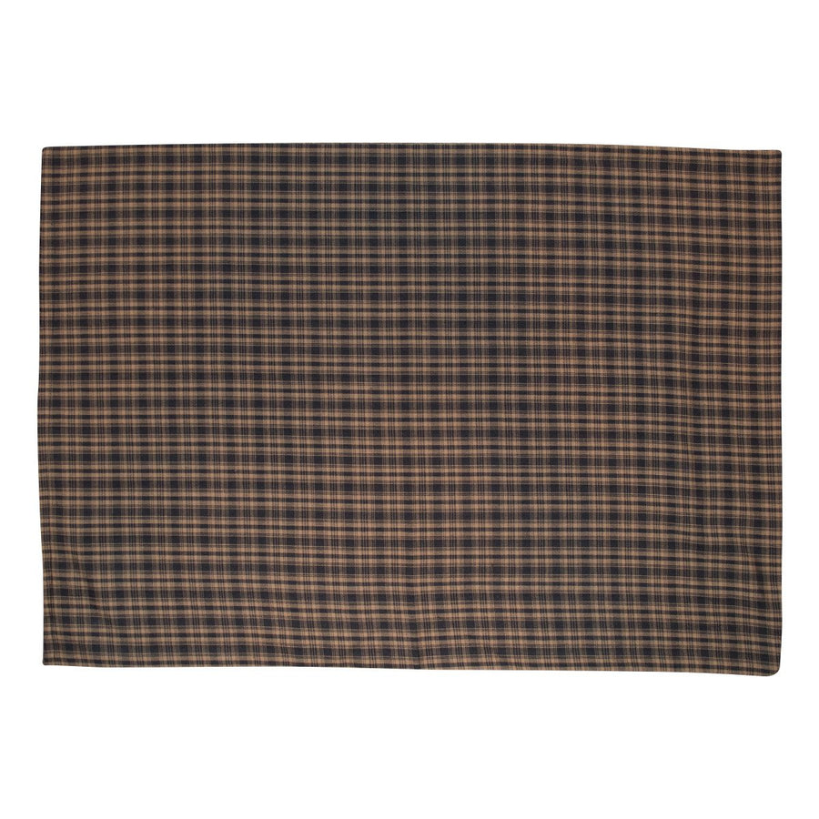 Black and Tan Plaid Pillow Case Set