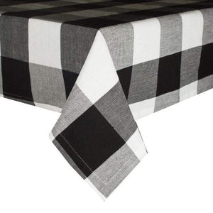 Black Buffalo Check Tablecloth