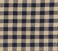 Black Check Prairie Curtain - Retro Barn Country Linens - 2
