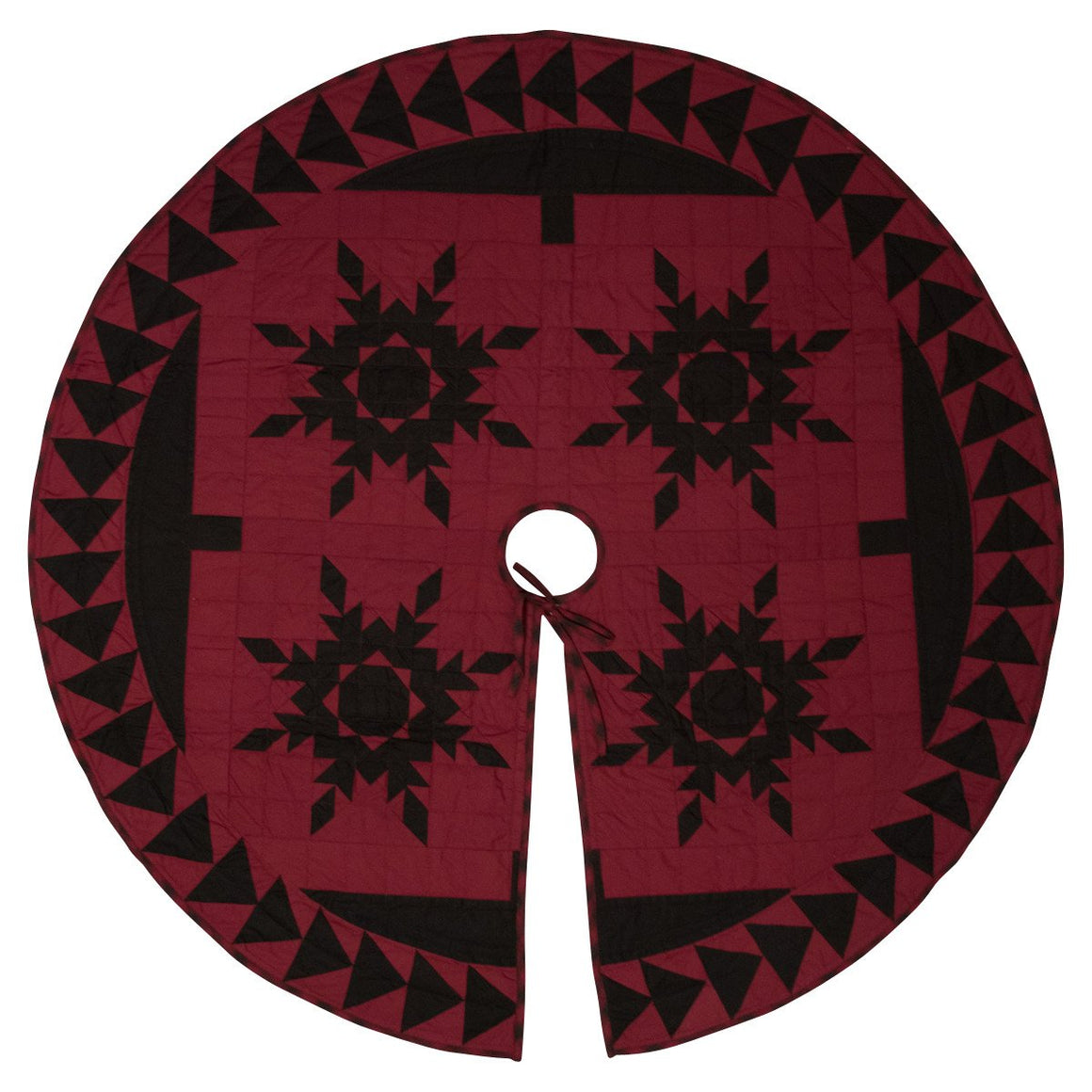 Black Feathered Star Tree Skirt