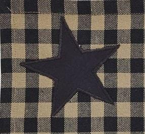 Black Star Prairie Curtain - Retro Barn Country Linens - 2