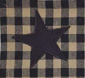 Black Star Tier Set - Retro Barn Country Linens - 2