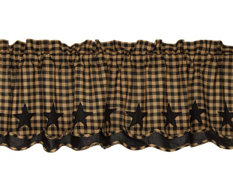 Black Star Layered Valance
