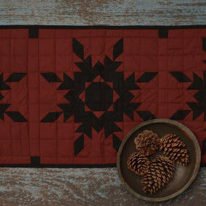 Black Feathered Star Table Runner
