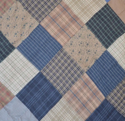 Cornflower Patchwork Valance - Retro Barn Country Linens - 2
