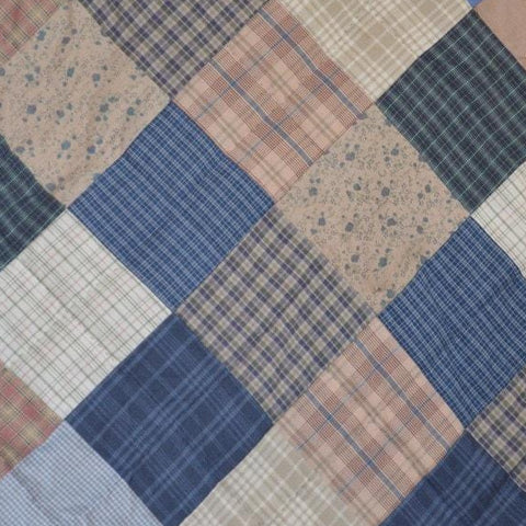 Cornflower Hand Quilted Bedspread Quilt - Retro Barn Country Linens - 4