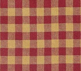 Burgundy Check Swag - Retro Barn Country Linens - 2