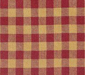 Burgundy Check Tier Set - Retro Barn Country Linens - 2