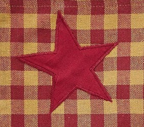 Burgundy Star Rectangle Tablecloth