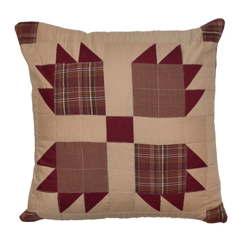 Burgundy Bear's Paw Pillow