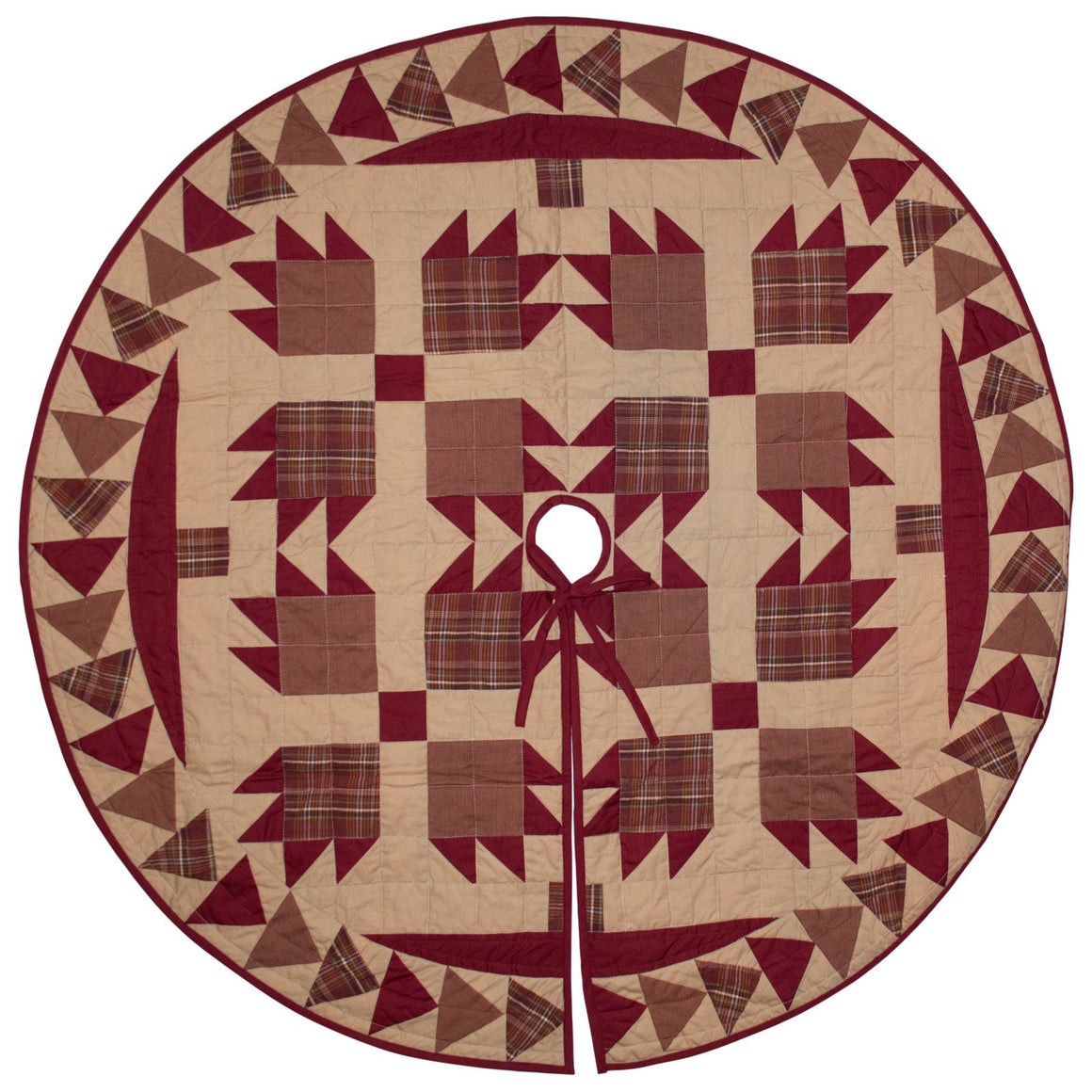 Burgundy Bear's Paw Tree Skirt