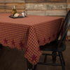 Burgundy Star Tablecloth