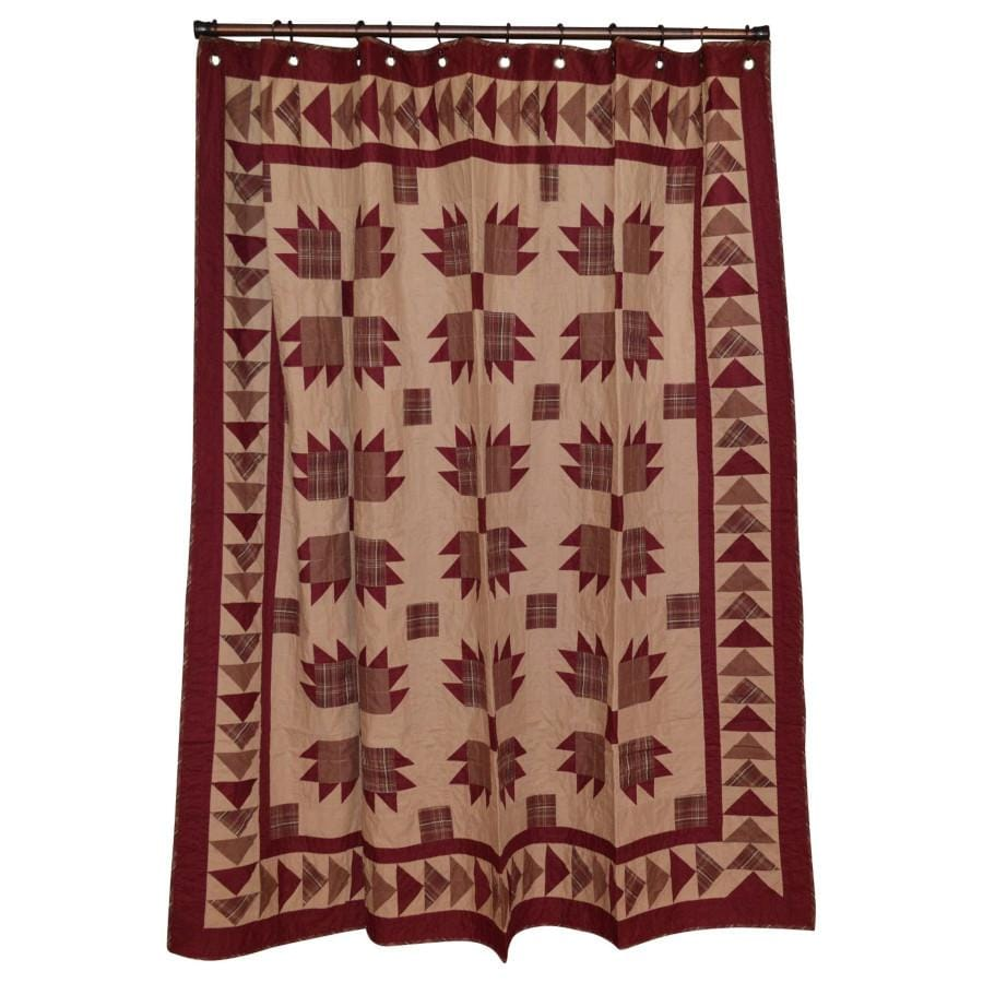 Burgundy Bear's Paw Shower Curtain