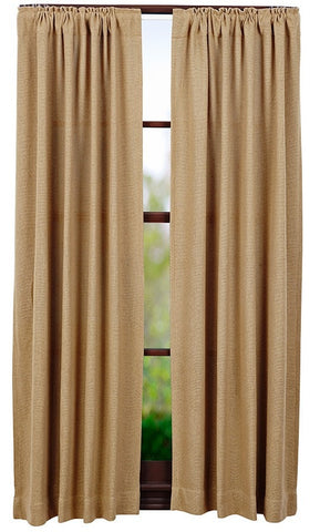 "Burlap Natural 63"" Panel Set - Retro Barn Country Linens - 1"