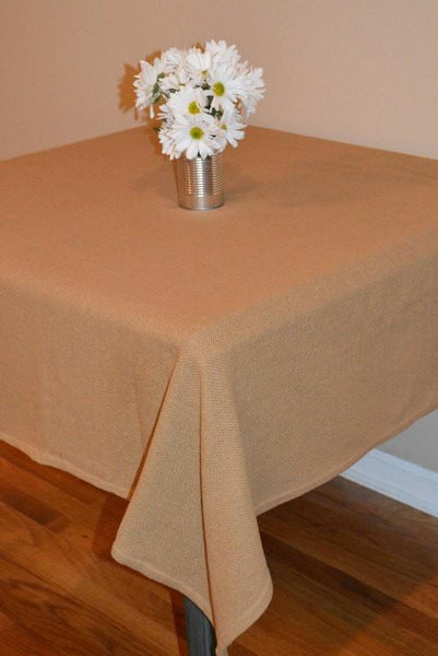 Burlap Natural Rectangle Tablecloth Retro Barn Country