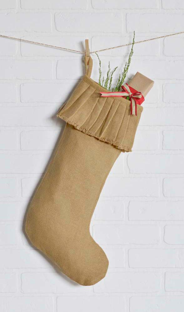 Burlap Christmas Stockings.Burlap Christmas Stocking Set Of 2