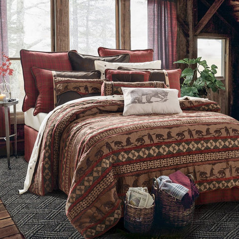 Cascade Lodge Comforter Set - Retro Barn Country Linens - 1