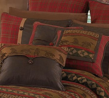 Cascade Lodge Comforter Set - Retro Barn Country Linens - 6