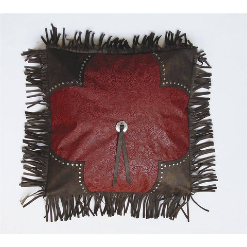Cheyenne Red Concho Pillow - Retro Barn Country Linens