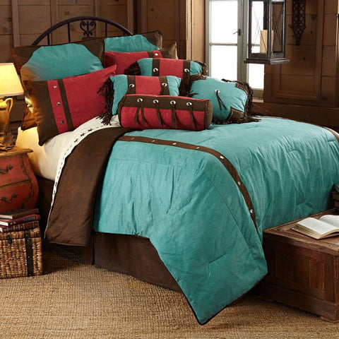 Cheyenne Turquoise Comforter Set - Retro Barn Country Linens - 1