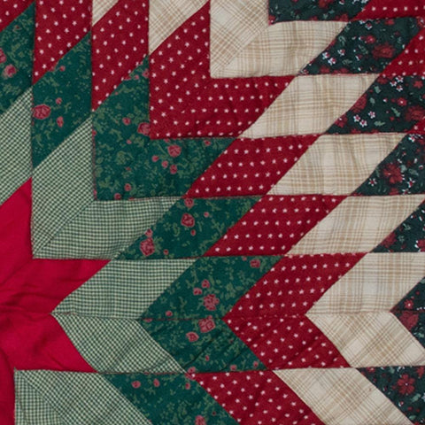 Christmas Lonestar Mini Quilt Close Up