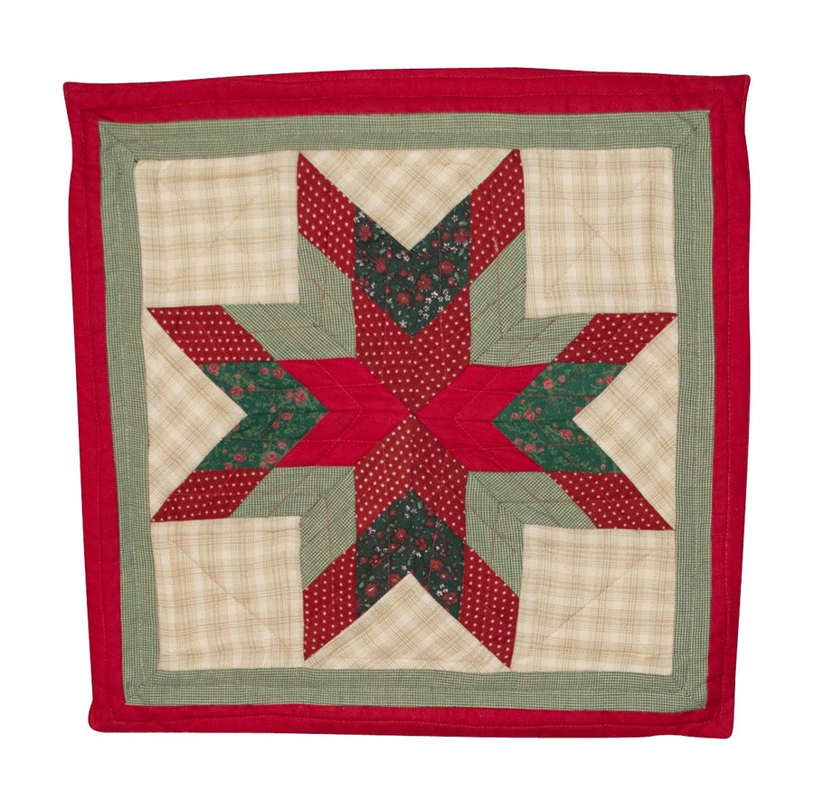 Christmas Lone Star Toss Pillow