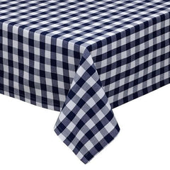 Classic Navy Checkered Tablecloth