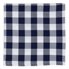 Classic Navy Checkered Napkin Set