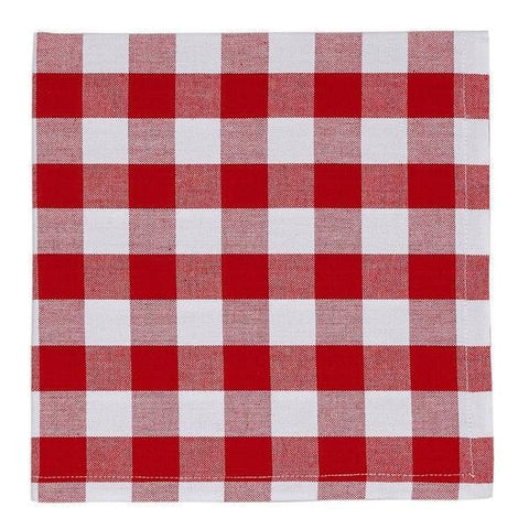 Classic Red Checkered Napkin Set