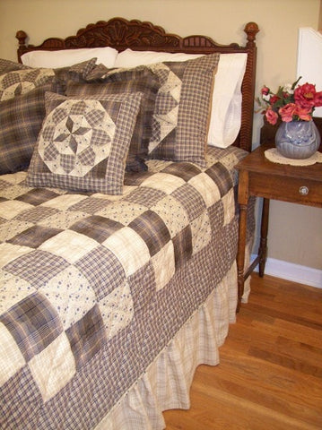 Clementine Handcrafted Quilt Set - Retro Barn Country Linens - 1