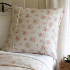 Clovelly Euro Sham - Retro Barn Country Linens - 1