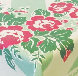 Cottage Rose Tablecloth - Retro Barn Country Linens - 2