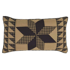 Dakota Star King Sham - Retro Barn Country Linens - 1