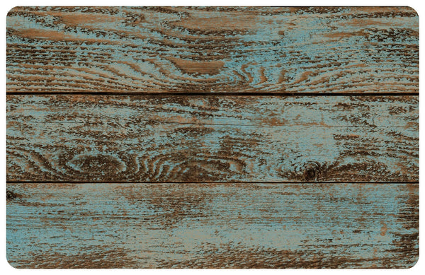 Dark Painted Floor Faux Wood Rug Retro Barn Country Linens