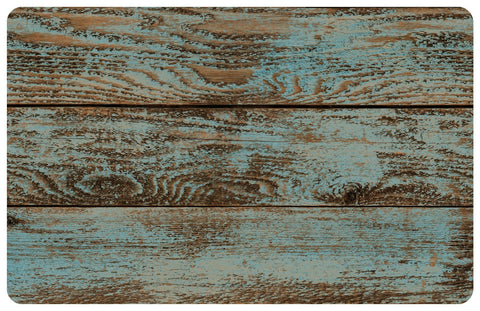 Dark Painted Floor Faux Wood Rug - Retro Barn Country Linens - 3