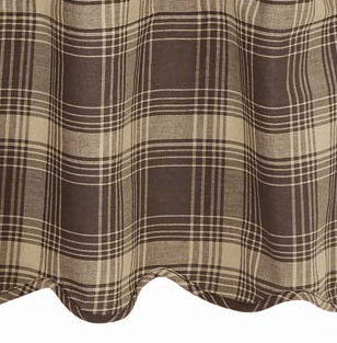 "Dawson Star Valance 60"" - Retro Barn Country Linens - 2"