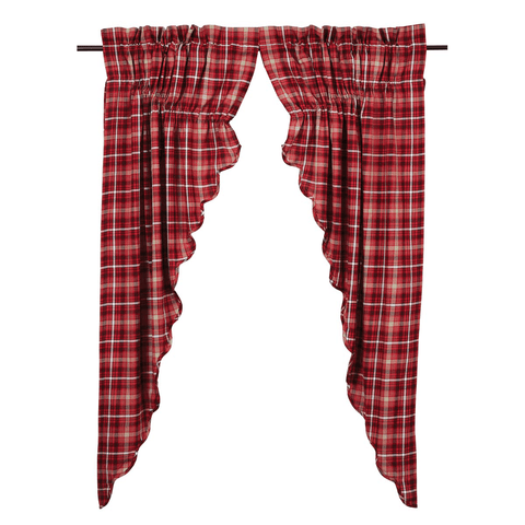 Braxton Prairie Curtain - Retro Barn Country Linens - 1