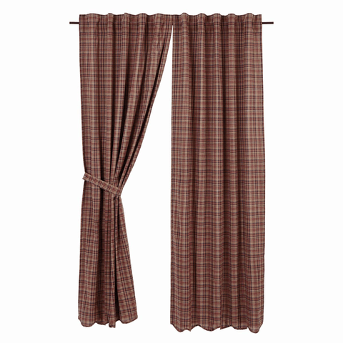 "Parker Panel Set 84"" - Retro Barn Country Linens - 1"