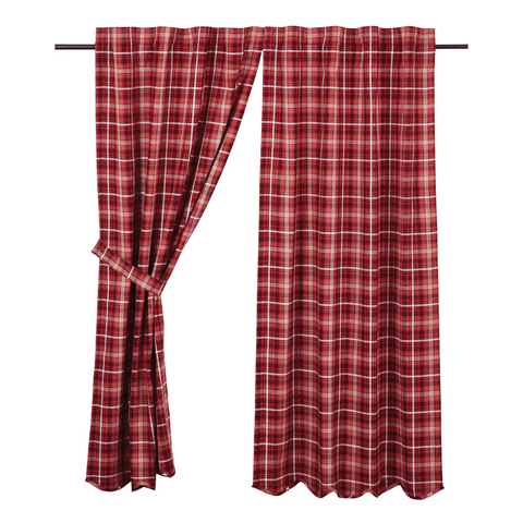 "Braxton 84"" Panel Set - Retro Barn Country Linens - 1"