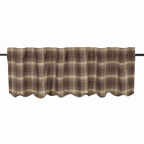 "Dawson Star Valance 60"" - Retro Barn Country Linens - 1"