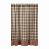 Dawson Star Patchwork Shower Curtain - Retro Barn Country Linens - 2