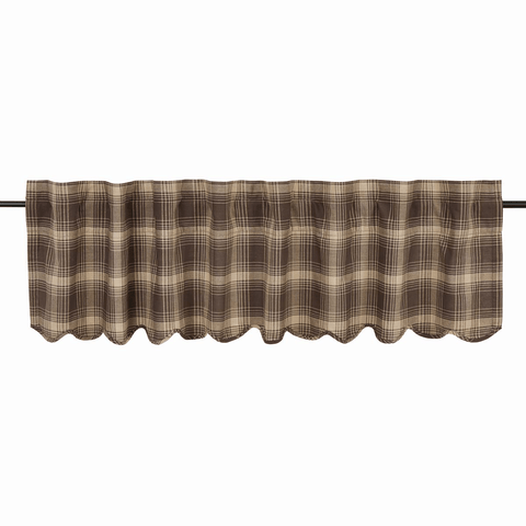 "Dawson Star Valance 72"" - Retro Barn Country Linens - 1"
