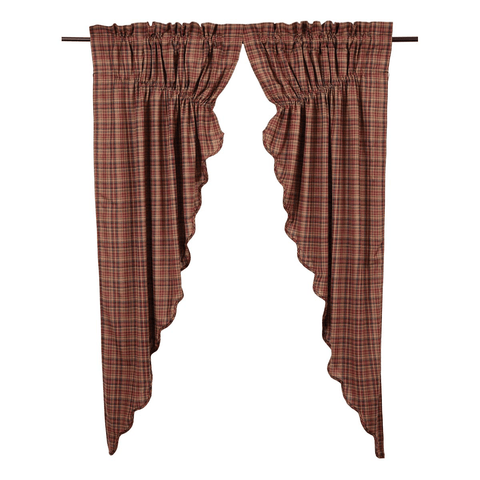 Parker Prairie Curtain - Retro Barn Country Linens - 1