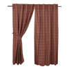 "Parker Panel Set 63"" - Retro Barn Country Linens - 1"