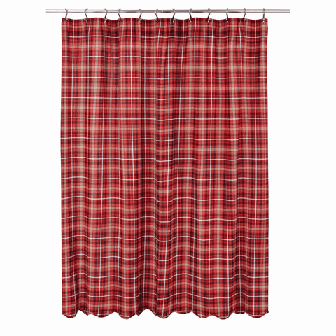 Braxton Shower Curtain - Retro Barn Country Linens - 2
