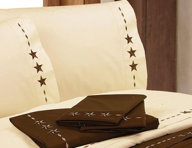 Embroidered Star Sheet Set