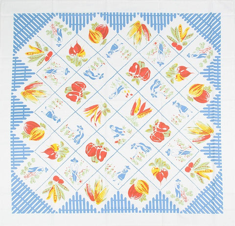 Farmer's Market Tablecloth - Retro Barn Country Linens - 2