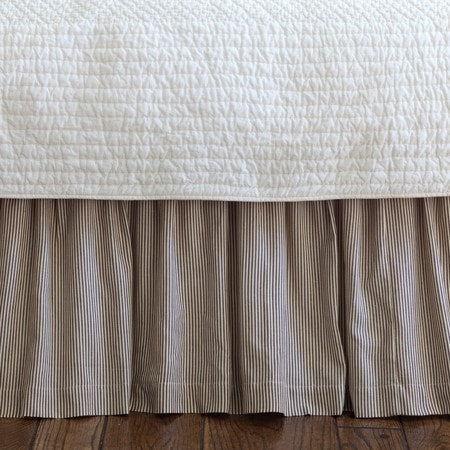"Farmhouse Stripe Bedskirt 18"" - Retro Barn Country Linens"