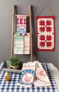 Feed Sack Towel Set in Country Sampler Magazine